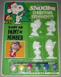 Snoopy Paint by Number Christmas Ornaments