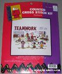 Peanuts Gang playing Baseball Cross-stitch Kit