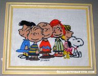 Peanuts Gang Standing Around Crewel Stitchery Picture