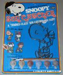 Snoopy Sun Catcher Kit - Charlie Brown eating ice cream