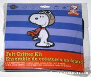 Snoopy Flying Ace Felt Critter Kit