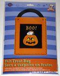 Snoopy & Woodstocks in Pumpkin Felt Treat Sack