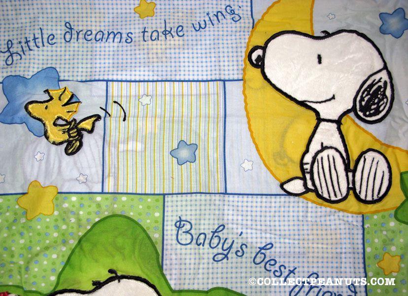 Peanuts fabric for Moon and stars fleece fabric