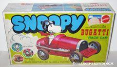 Snoopy & His Bugatti Race Car Snap Tite Model Kit