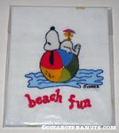 Snoopy Beach Fun Crewel Stitchery Picture