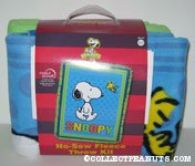 Snoopy & Woodstock all-stars fleece throw kit