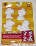 Snoopy Poses Plaster Magnets Kit