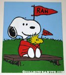 Snoopy & Woodstock 'Rah for our Side' Acrylic painting