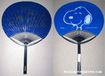 Peanuts Gang group dark blue & gold Fan