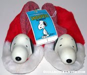 Vinyl Head Snoopy on Red and White Kids Slippers