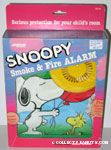 Snoopy holding Balloons with Woodstock Smoke & Fire Alarm