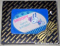 Snoopy dancing in hat & suit 'Happy Birthday' Paperweight