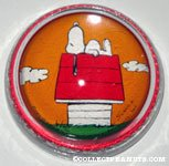 Snoopy on doghouse glass dome Paperweight
