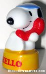 Snoopy on phone 'Hello' Paperweight