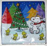 Snoopy & Woodstocks Christmas Tree Cocktail Napkins