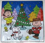 Peanuts Gang Christmas Tree Dinner Napkins