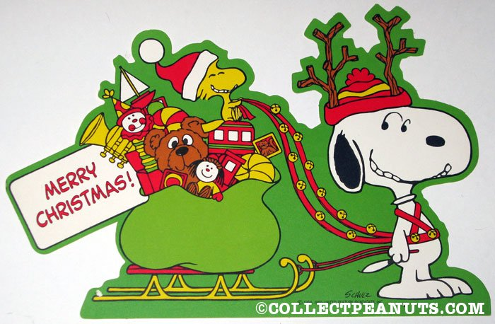 snoopy pulling sleigh driven by woodstock christmas press out snoopy pulling sleigh driven by woodstock christmas press out - Snoopy And Woodstock Christmas