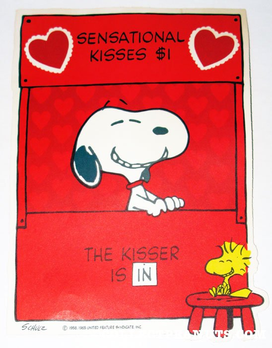 Peanuts Valentine S Day Press Out Designs Collectpeanuts Com