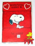 Snoopy kissing booth Valentine's Press-out