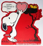 Snoopy giving Woodstock a card Valentine's Press-out