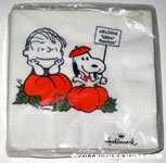 Snoopy & Linus in Pumpkin Patch Napkins