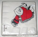 Charlie Brown carrying heart & Snoopy Napkins