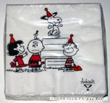 Peanuts Gang in party hats Napkins