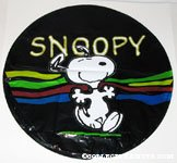 Snoopy dancing in front of wave Mylar Balloon