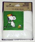 Snoopy & Woodstock golfing Coaster Petite Napkins