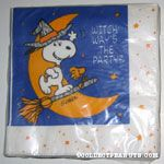 Snoopy and Woodstock on Witch's Broomstick