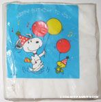 Snoopy and Woodstock with party balloons