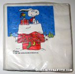 Snoopy and Woodstock on decorated Doghouse