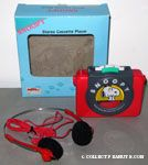Snoopy giggling walkman-type stereo cassette player with headphones
