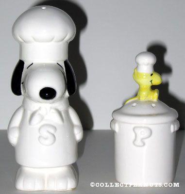Chef Snoopy Salt Pepper Shaker Set