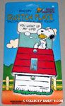 Snoopy hugging Woodstock on Doghouse Switch Plate