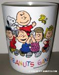 Peanuts Gang carrying Snoopy & Charlie Brown Wastebasket