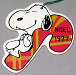 Peanuts & Snoopy Wood Christmas Ornaments