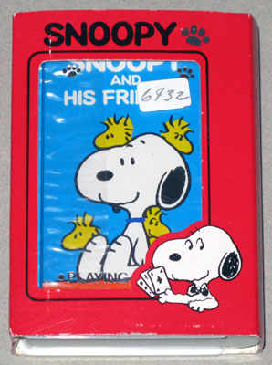 Snoopy and his Friends Playing Cards