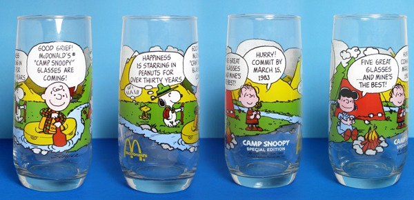 Four views of the elusive 6th Camp Snoopy Managers' Glass
