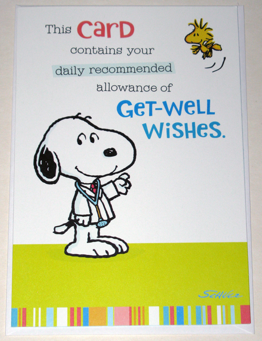 Peanuts Get Well Cards Collectpeanuts Com