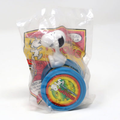 Snoopy riding on Wheel Toy