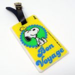 Snoopy and Woodstock Bon Voyage Luggage Tag