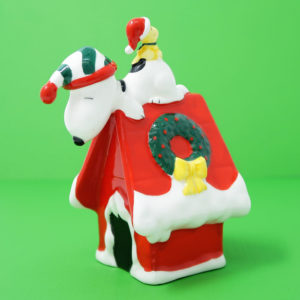 Snoopy and Woodstock on Christmas Doghouse 1987 Decorative Bell