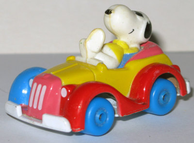 Snoopy in Multi-colored Roadster