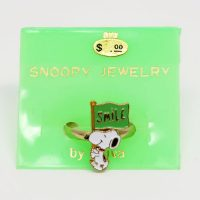 Snoopy holding 'Smile' sign Ring