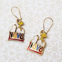 Snoopy & Woodstock on Love Earrings