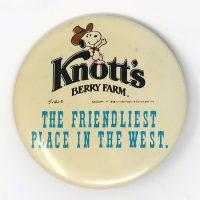 Knott's Berry Farm Cowboy Snoopy Button