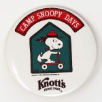 Snoopy on scooter 'Camp Snoopy Days' Button