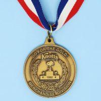 Knott's Berry Farm Bronze Medal Necklace
