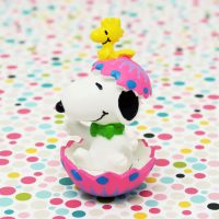 Snoopy hatching from pink Easter egg PVC Figurine
